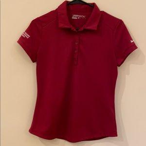 EUC Nike Golf Modern Dri-fit Polo Team Red Sz Med